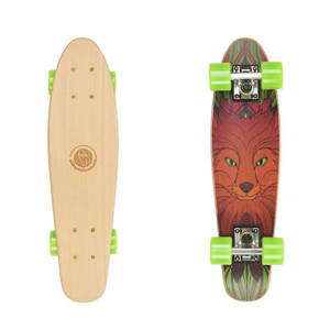 "Drevený pennyboard Fish Classic Wood 22"" Red fox"