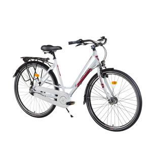 """Dámsky mestský bicykel Devron Urbio LC1.8 - model 2016 Crimson White - 21,5"""" - Záruka 10 rokov"""