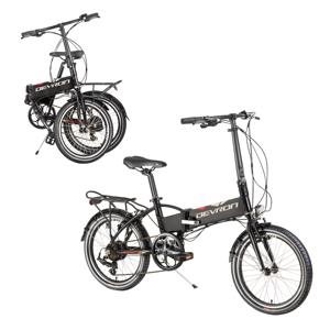 """Skladací elektrobicykel Devron 20124 20"""" - model 2019 čierna - Záruka 10 rokov"""