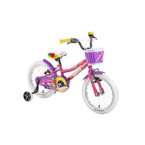 """Detský bicykel DHS Daisy 1404 14"""" - model 2019 Pink - Záruka 10 rokov"""