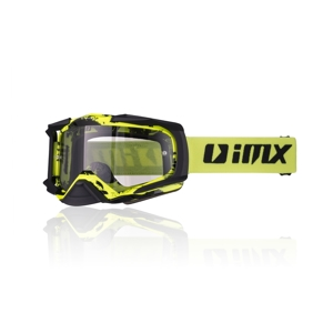 Motokrosové okuliare iMX Dust Graphic Fluo Yellow-Black Matt