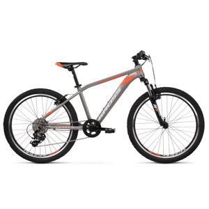 """Juniorský bicykel Kross Level JR 2.0 24"""" - model 2020 grafitová/oranžová - 14"""" - Záruka 10 rokov"""