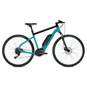 "Crossový elektrobicykel Ghost Square Cross B1.8 28"" - model 2019 Electric Blue / Jet Black - XL (24,5"") - Záruka 10 rokov"