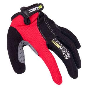 Motokrosové rukavice W-TEC Ratyno čierno-červená - L