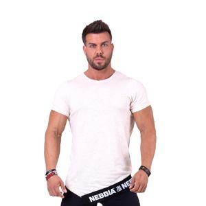Pánské tričko Nebbia Be rebel! 140 Light Brown - M