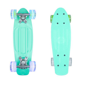 "Mini pennyboard WORKER Pico 17"" so svietiacimi kolieskami modrá"