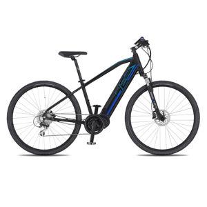 """Crossový elektrobicykel 4EVER Mercury AC-Cross - model 2020 čierna/modrá - 17"""" - Záruka 10 rokov"""