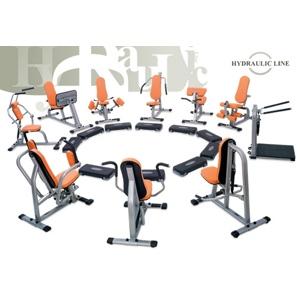 Set 10. strojov Kruhový tréning Hydraulicline - čierna - Záruka 10 rokov + Servis u zákazníka