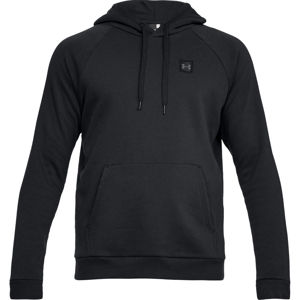 Pánska mikina Under Armour Rival Fleece PO Hoodie Black/Black - L