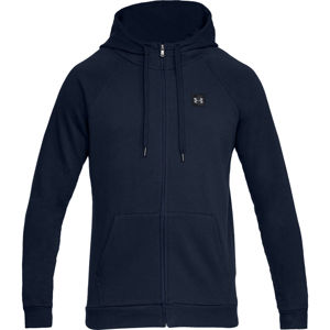 Pánska mikina Under Armour Rival Fleece FZ Hoodie Academy/Black - M