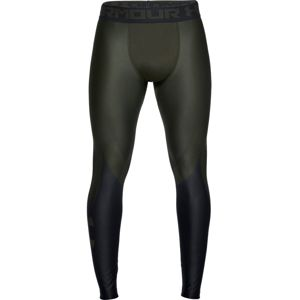 Pánske kompresné legíny Under Armour HG Armour 2.0 Legging Grphc Artillery Green/Black - XL