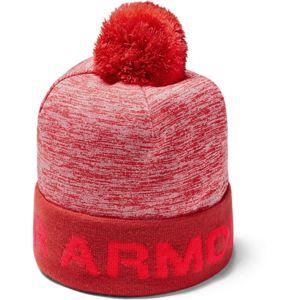 Chlapčenská čiapka Under Armour Boy's Gametime Pom Beanie Martian Red - OSFA