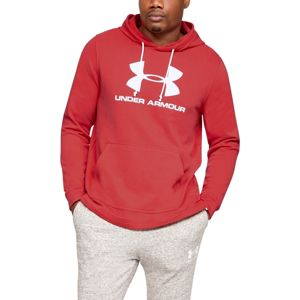 Pánska mikina Under Armour Sportstyle Terry Logo Hoodie Martian Red - L