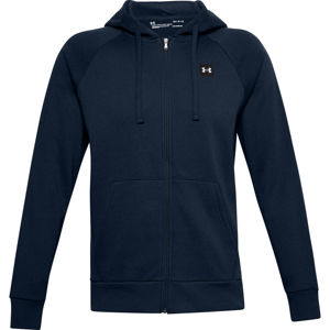 Pánska mikina Under Armour Rival Fleece FZ Hoodie Academy - M