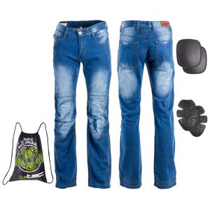 Pánske moto jeansy W-TEC Shiquet modrá - XXL