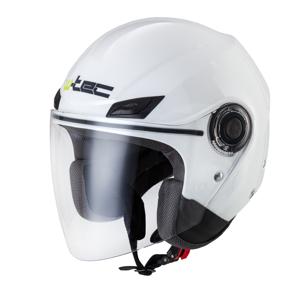 Moto prilba W-TEC Nankko White Shine - XS (53-54)