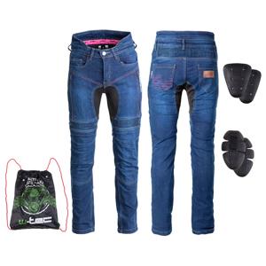 Dámske moto jeansy W-TEC Biterillo Lady modrá - 4XL