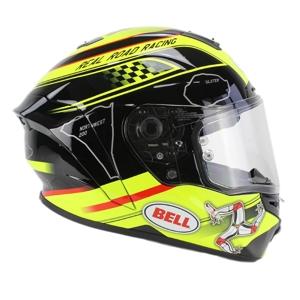 Moto helma BELL Star Isle Of Man black-yellow čierno-žltá - XXL (63-64) - Záruka 5 rokov