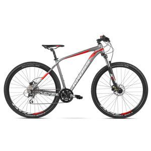 """Horský bicykel Kross Level 2.0 29"""" - model 2020 grafitová/strieborná/červená - M (19'') - Záruka 10 rokov"""