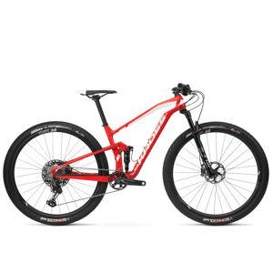 """Celoodpružený bicykel Kross Earth TE 29"""" - model 2020 červeno-biela - L (19"""") - Záruka 10 rokov"""