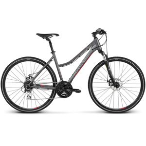 """Dámsky crossový bicykel Kross Evado 4.0 28"""" - model 2020 grafitová/ružová - M (17"""") - Záruka 10 rokov"""
