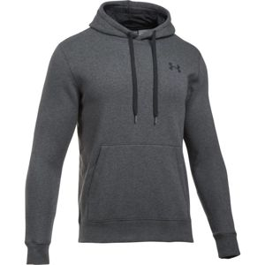 Pánska mikina Under Armour Rival Fitted Pull Over CARBON HEATHER / BLACK - XL
