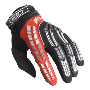 Detské motokrosové rukavice Pilot čierno-červená - 3