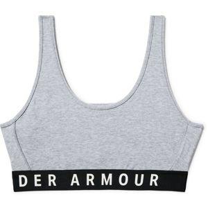Dámska podprsenka Under Armour Favorite Cotton Everyday Htr Steel Full Heather / Black / White - L