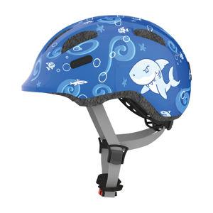 Detská cyklo prilba Abus Smiley 2.0 Blue Sharky - M (50-55)