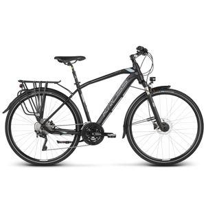 """Pánsky trekingový bicykel Kross Trans 10.0 28"""" - model 2020 čierna/kovová/strieborná - M (19'') - Záruka 10 rokov"""