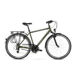 """Pánsky trekingový bicykel Kross Trans 2.0 28"""" SR - model 2021 khaki/čierna - S (17'') - Záruka 10 rokov"""