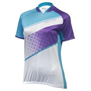 Dámsky cyklistický dres Kellys Jody - krátky rukáv violet-azure - L